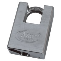 Asec Chrome Plated Brass Cloased Shackle Padlock Without Cylinder