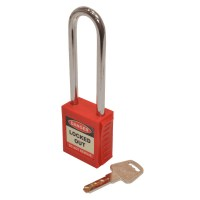 Asec Lockout Tagout Safety Padlock LOTO Long Shackle