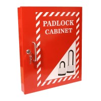 Asec Lockout Tagout Storage Cabinet - Red