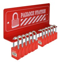 Asec Lockout Tagout Storage Station - Red