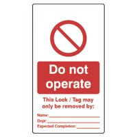 Asec Lockout Tagout Safety Tags Pack of 10 - Do not Operate