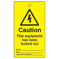 Asec Lockout Tagout Safety Tags Pack of 10 - This Equipment Has Been Locked Out