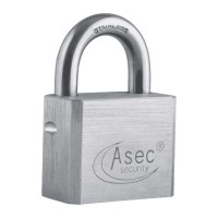 Asec Chrome Plated Brass Padlock Open Shackle With Removeable Cylinder