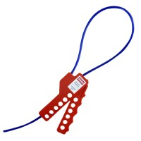 Asec Lockout Tagout Safety Cable Hasp Non Conductive - Red Nylon